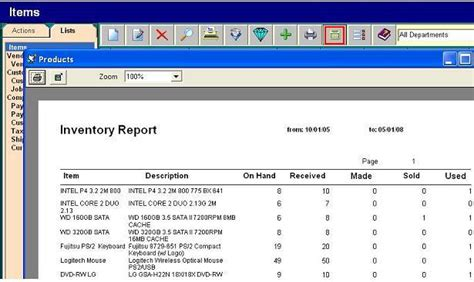 sle of inventory report inventory reports sales per item sales per customer sales