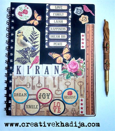 Handmade Diary Ideas - vintage design diary cover diy