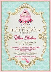 25 best ideas about high tea invitations on tea invitations tea crafts