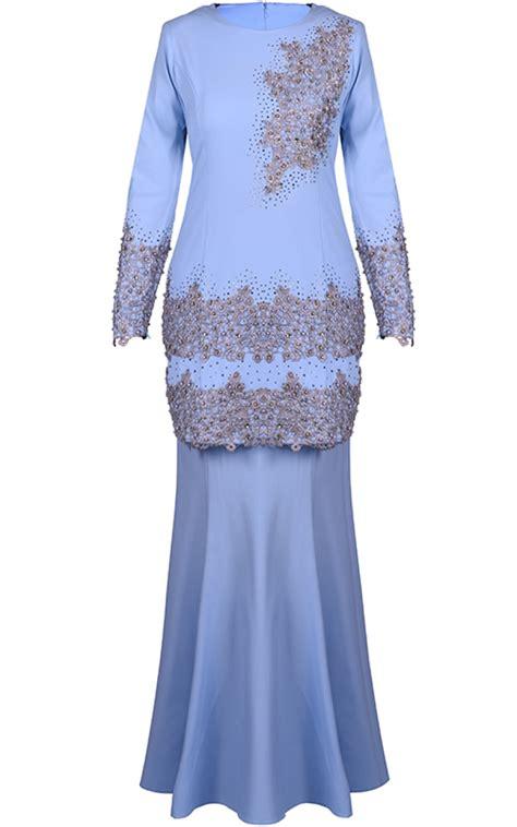 Fashion Baju Bluesky baju kurung mini ifa sky blue baju kurung