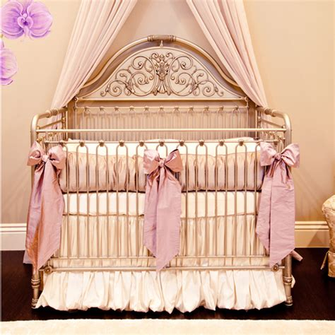 silk crib bedding set orchid lilac silk crib bedding set by crown interiors