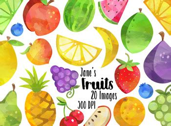 watercolor fruits clipart by digitalartsi thehungryjpegcom watercolor fruits clipart by digitalartsi teachers pay