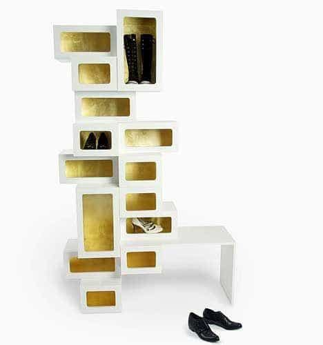 unique storage creative shoe racks with unique designs home decorating