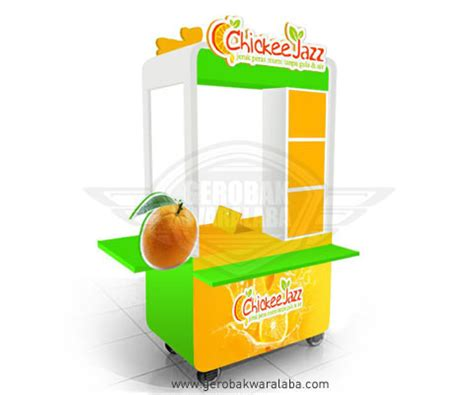 desain gerobak jus unik gerobak jeruk peras murni jasa gerobak bandung desain