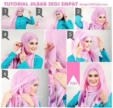 foto tutorial segi empat 226 191 tutorial simple jilbab paris segi empat 226 191