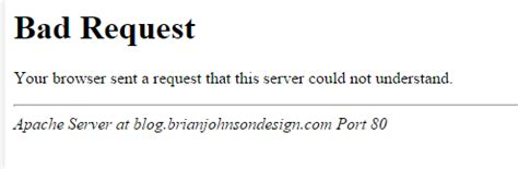 Bad Request Brian Johnson S Design Page 3 Of 12 Design Websites And Marketing