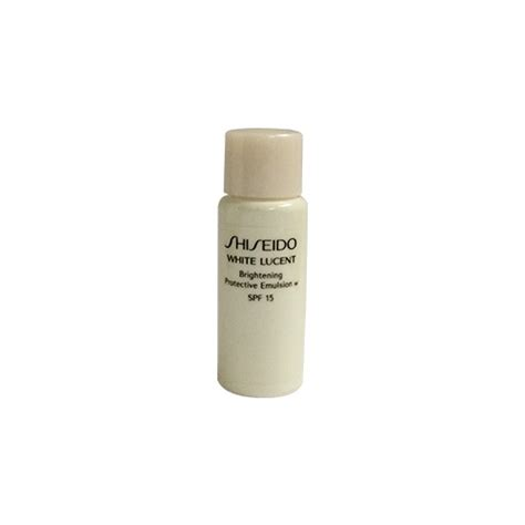 Shiseido White Lucent Brightening Protective Emulsion Spf15 15ml shiseido white lucent brightening protective emulsion w spf15