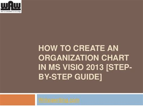 how to create org chart in visio how to create an organization chart in ms visio 2013