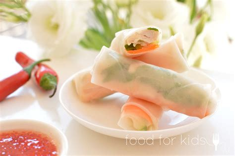 How To Make Chicken Rice Paper Rolls - chicken rice paper rolls food for