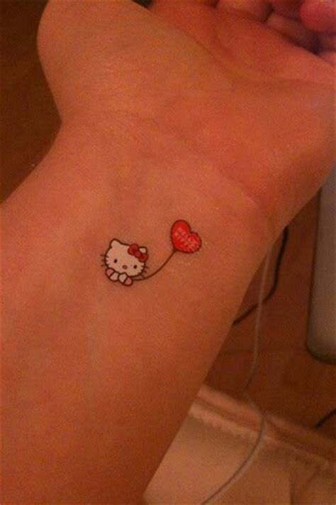 small hello kitty tattoos hello wrist small ideas fav images