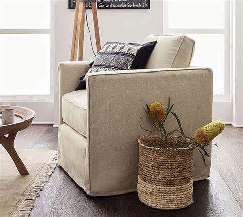 pottery barn desk chair slipcover trim lines meet casual slipcover style in the pottery barn