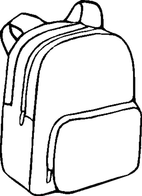 Backpack Coloring Page free coloring pages of backpacks images