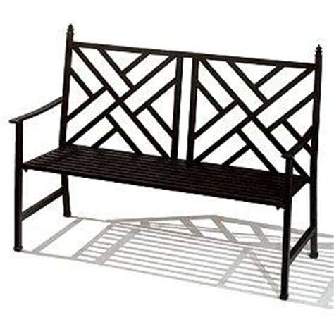 black metal bench outdoor black bamboo chippendale bench