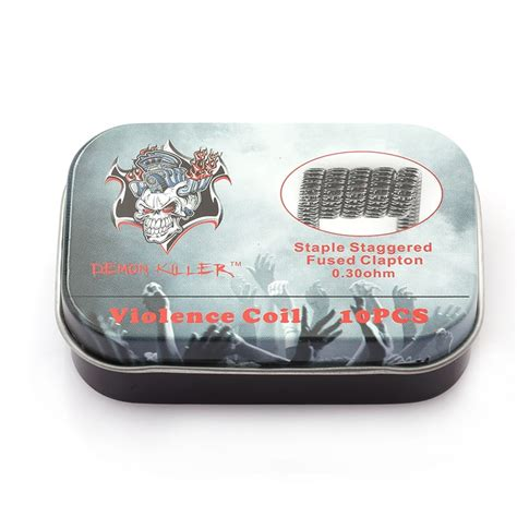 Killer Staple Staggered Fused Clapton 0 30 Ohm 1 killer staple staggered fused clapton coil 10 pack