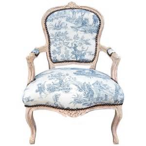 Pattern For Armchair Covers Baroque Armchair Of Louis Xv Style Blue Toile De Jouy And