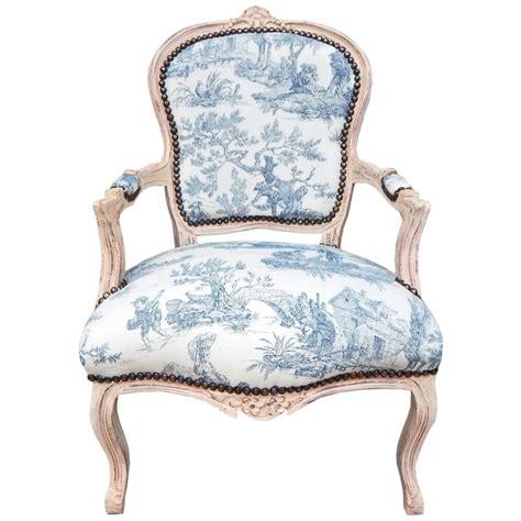 Toile Armchair by Baroque Armchair Of Louis Xv Style Blue Toile De Jouy And