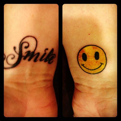 smile tattoo smile or just a smiley