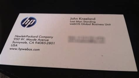 hp templates for business cards here is the absolute saddest business card in the world