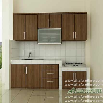 kitchen set simpel hpl model woody allia furniture