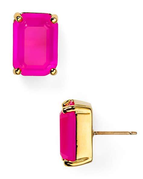 Kate Spade Earing 0oru1624 lyst kate spade new york emerald cut stud earrings in metallic