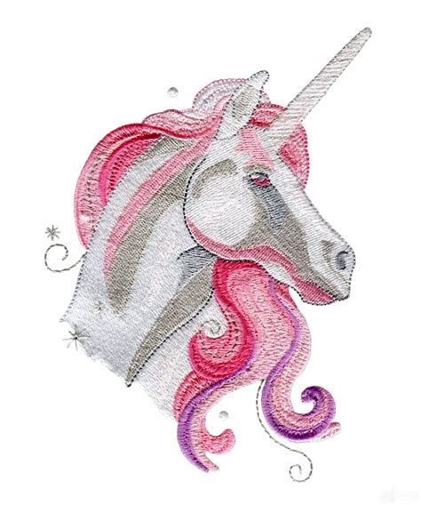 embroidery design unicorn pink unicorn portrait embroidery design