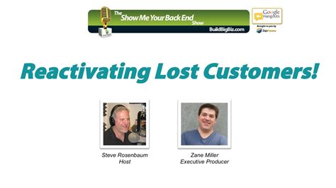 Lost Customer Letter show me your back end episode 7 the best past customer