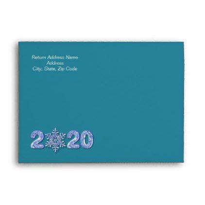 happy  year  snowflake custom envelopes zazzlecom  year greeting cards custom