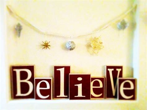 quot believe quot wooden blocks christmas decorating ideas