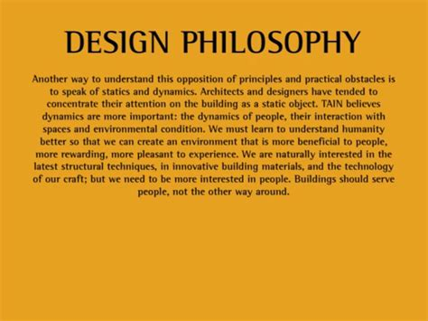design is not for philosophy it s for life tain design philosophy on vimeo