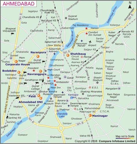 ahmedabad city map satellite map of ahmedabad mapsof net