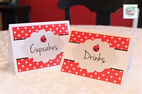 free printable ladybug birthday decorations 7 best images of free printable food tents free