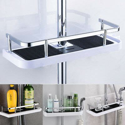 Shower Pole Shelf by Bathroom Shelf Shower Pole Storage Caddy Rack Organiser