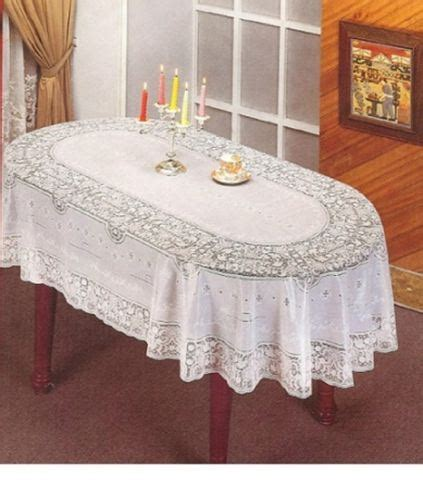 oval lace tablecloths uk vinyl jacquard design embossed lace tablecloth cover square oval rectangle ebay