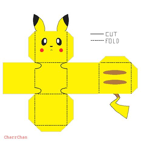 Pikachu Papercraft Template - pikachu papercraft by charrchan on deviantart