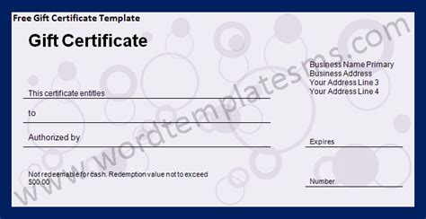 microsoft gift certificate template gift voucher template free