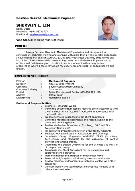 surprising automotive mechanical engineer sample resume very