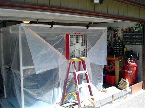 build temporary room in garage
