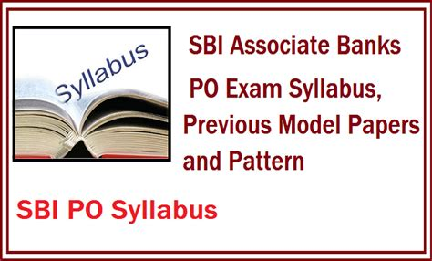 General Management Mba Bank Associate by Sbi Associate Bank Po Pattern And Syllabus