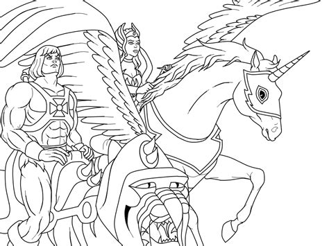 free coloring pages of he man and the masters of the universe