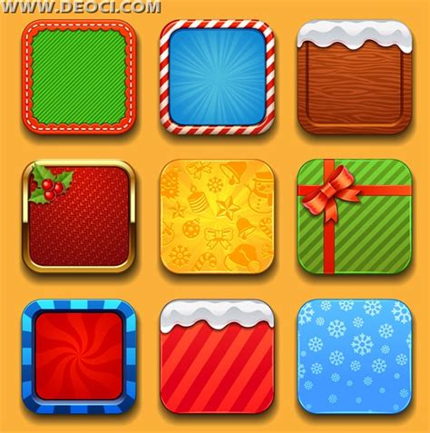layout app border 9 christmas 2015 app icon border design eps downloads