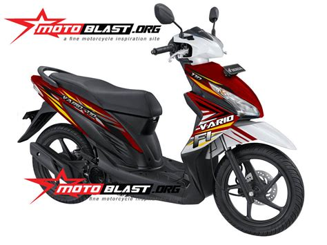 Striping Honda Blade 2013 Injeksi Merah vario 110 new fi auto design tech