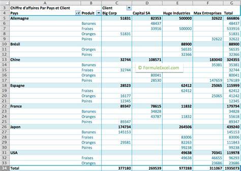 tutoriel encadrement tableau tutoriel le tableau crois 233 dynamique sur excel formule
