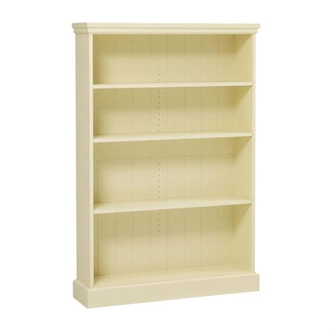 Bourton Painted Extra Wide Bookcase 5ft M450 With Free 24 Inch Wide White Bookcase