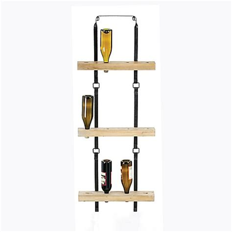 wine rack bed bath and beyond metal and wood wine rack bed bath beyond
