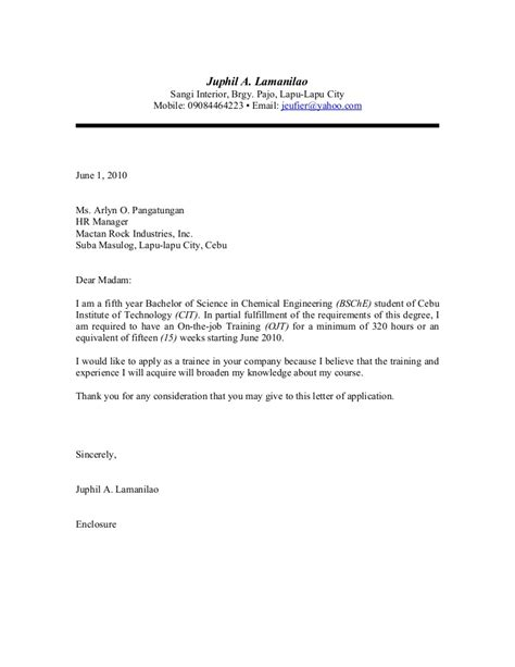 application letter for in the philippines sle of application letter in the philippines resume