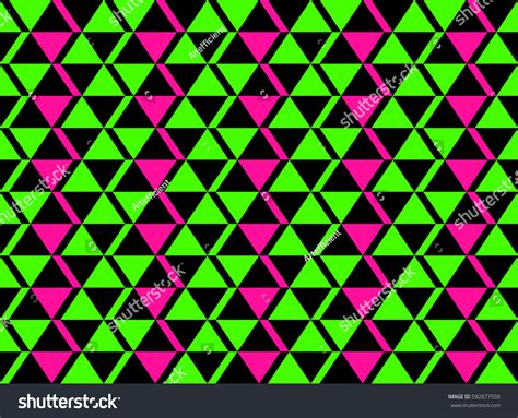 geometric neon pattern classic neon colors geometric african style stock vector