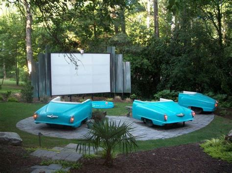 backyard drive in awesome backyard theater 1 backyard ideas pinterest