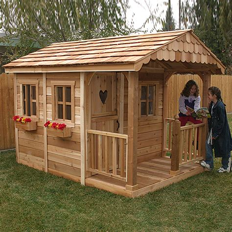 backyard playhouse kits shop outdoor living today sunflower wood playhouse kit at