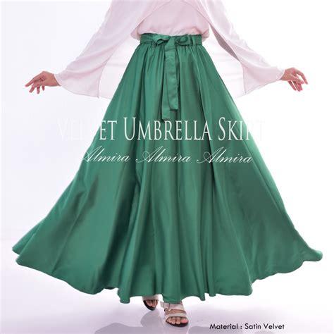Etuna Skirt Rok Celana Wanita Bawahan Muslim Murah Terkece rok panjang murah muslimah satin velvet umbrella skirt
