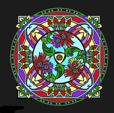 mandala stained glass coloring books 1000 images about mandala flower on dovers